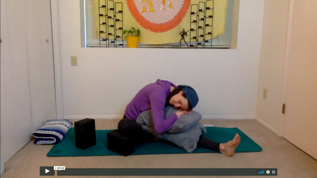 Online archive of yoga videos.